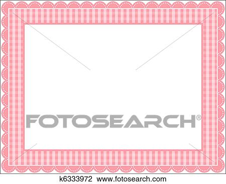 Clipart of Gingham Frame k6333972 - Search Clip Art, Illustration ...