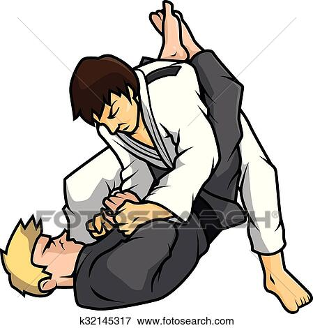 clip art of jiu jitsu training vector k32145317 search clipart rh fotosearch com