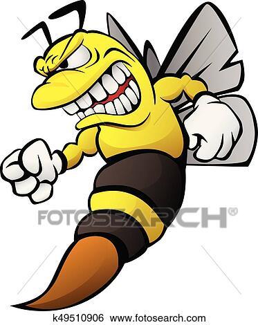 Bien-aimé Clipart - abeille, dessin animé, illustration k49510906  PA68
