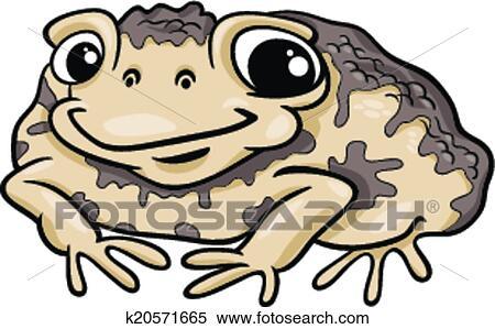 Clipart - kröte, amphibie, karikatur, abbildung k20571665 - Suche ...