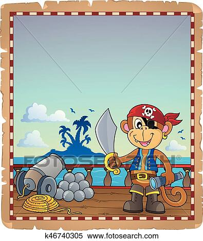Pirate clipart monkey, Picture #3088154 pirate clipart monkey