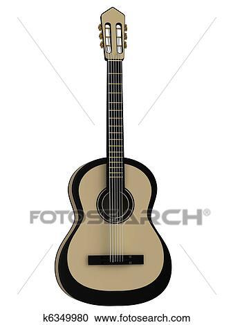 アコースティックギター クリップアート切り張りイラスト絵画集