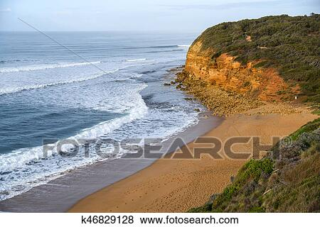 Bells Beach Near Torquay And Great Ocean Road Famous Of Surf In Victoria Australia