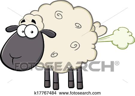 clipart of black head sheep with fart cloud k17767484 search clip rh fotosearch com fart clipart gif fart clip art image