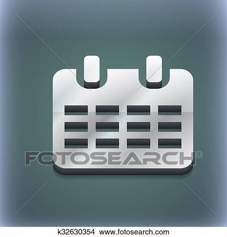 Simbolo De Calendario.Calendario Data O Evento Promemoria Icona Simbolo 3d Style Trendy Moderno Disegno Con Spazio Per Tuo Testo Raster Archivio