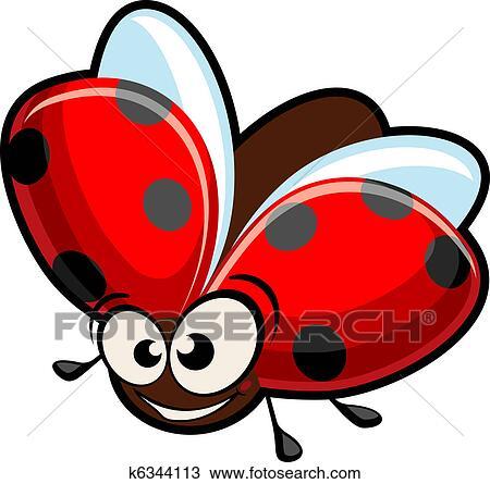 Dessin Coccinelle Rigolote clipart - rigolote, dessin animé, coccinelle k6344113 - recherchez