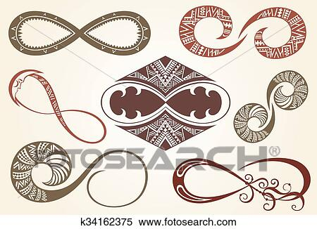 Clipart Of Set Of Different Infinity Symbols K34162375 Search Clip