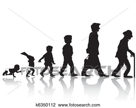 clipart of from young to old k6350112 search clip art rh fotosearch com clipart young woman young kid clipart