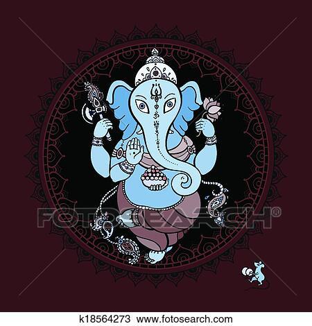 ganesha main dessiné illustration clipart  k18564273