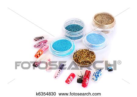 Stock Photography Of Nail Art Glitters K6354830 Search Stock