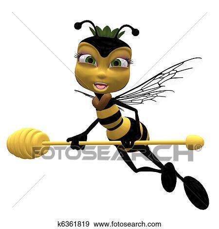 蜂蜜の 蜂 イラスト K6361819 Fotosearch