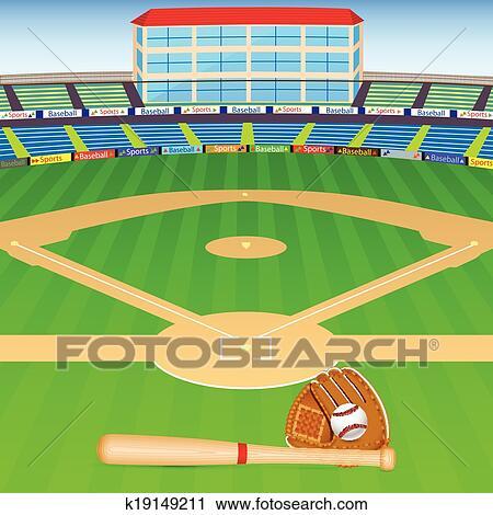 Baseball Field Clipart | k19149211 | Fotosearch (450 x 470 Pixel)