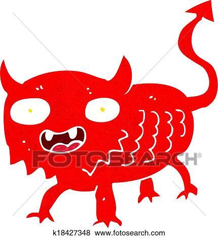 Cartone Animato Poco Demone Clip Art K18427348