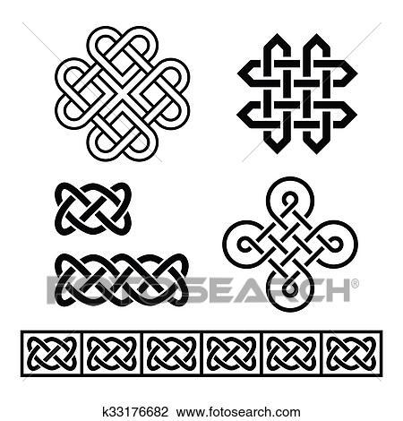 Clip Art Of Celtic Irish Patterns And Braids K60 Search Fascinating Irish Patterns
