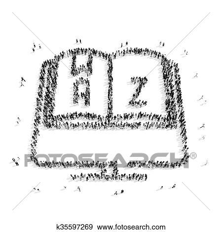 Colección de ilustraciones - gente, forma, alfabeto, estudiante ...