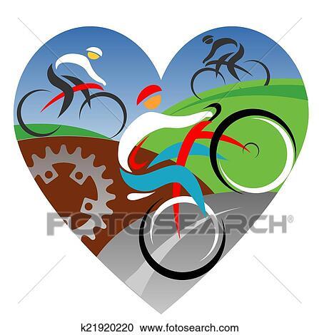 Clipart nous amour cyclisme k21920220 recherchez des - Clipart amour ...