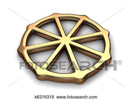 Stock Illustration Buddhismus Symbol K6375319 Suche Clipart