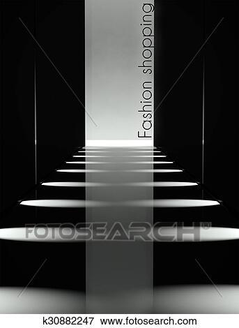 Picture Of Dark Design Fashion Show Runway Background K30882247