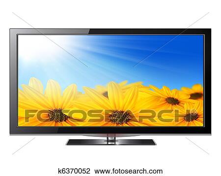 Flat screen tv Drawing