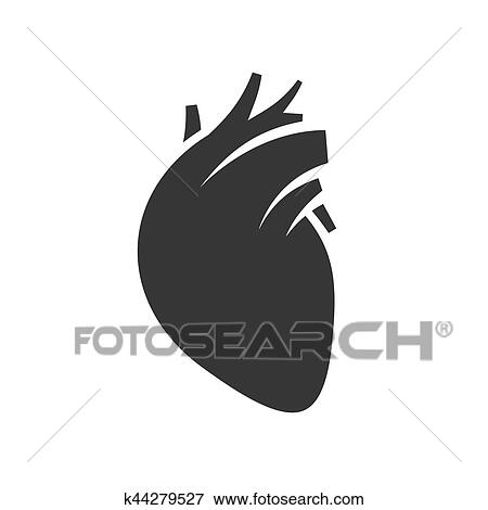 Human Heart Icon Clip Art