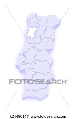 Mapa De Aveiro Portugal Arquivos De Ilustracao K24490147