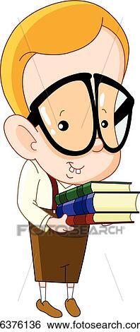 clip art of nerd kid k6376136 search clipart illustration posters rh fotosearch com nerd clipart computer nerd clipart