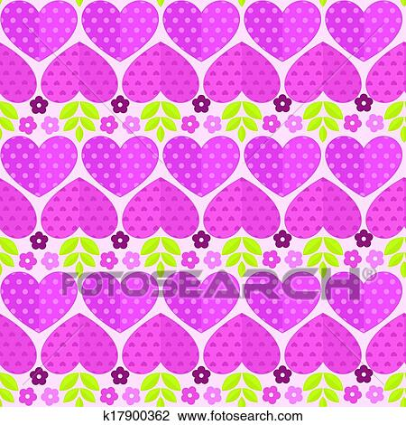 Clipart of seamless patterns with flowers hearts and leaves seamless patterns with flowers hearts and leaves for valentines day mightylinksfo