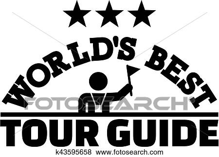 Clip Art Of Worlds Best Tour Guide K43595658