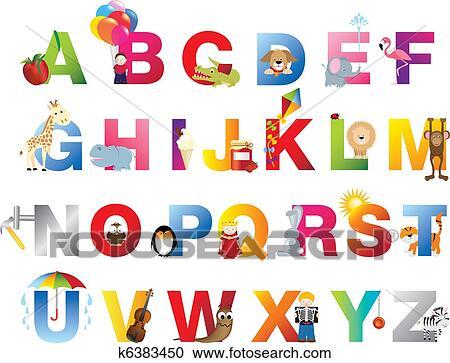 完了しなさい Childrens アルファベット クリップアート切り張り