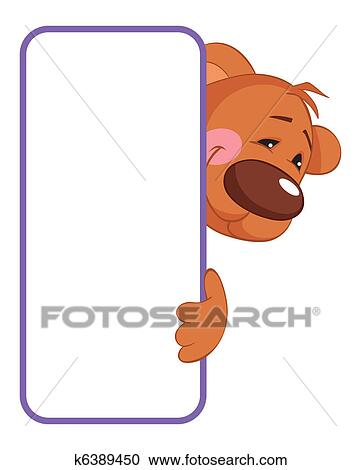 Bear Baby Animal Banner Clipart K6389450 Fotosearch