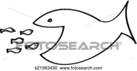 Clipart of big fish eating small fish k21563430 search clip art big fish eating small fish thecheapjerseys Choice Image