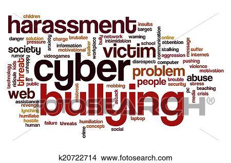 drawings of cyber bullying word cloud k20722714 search clip art rh fotosearch com Stop Cyberbullying Bullying Drawings