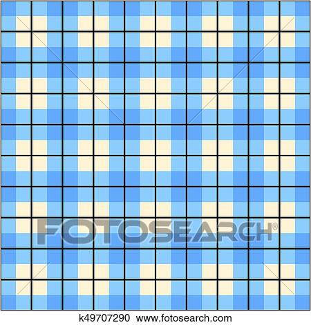 Blue gingham border clip art free