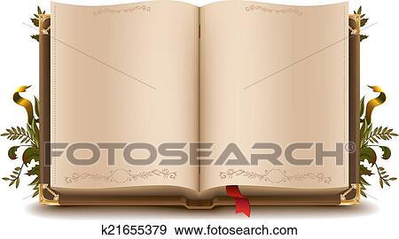 Vieux Livre Ouvert Clipart