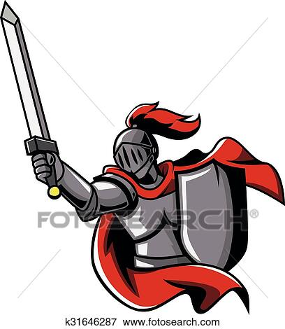clip art of warrior knights k31646287 search clipart illustration rh fotosearch com knight clip art black and white knights clipart black and white