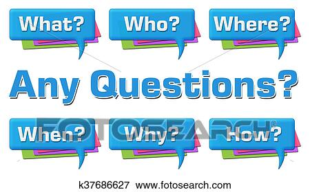 Stock Illustration Of Any Questions Comment Symbols Group K37686627