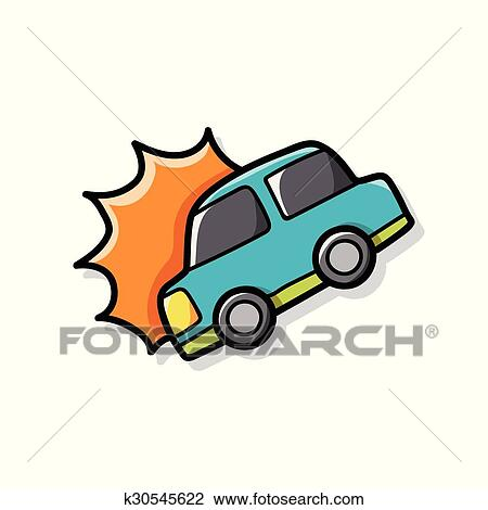 Clipart - autounfall, gekritzel k30545622 - Suche Clip Art ...