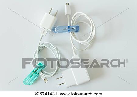 Stupendous Stock Photography Of Battery Charger And Wires Tech Mess K26741431 Wiring 101 Israstreekradiomeanderfmnl