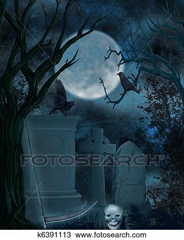 desenho cemitério k6391113 busca de imagens clip art