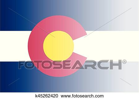 Clipart   Colorado State Flag Fade Background. Fotosearch   Search Clip Art,  Illustration Murals