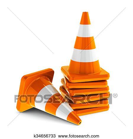 desenho cones tráfego k34656733 busca de imagens clip art