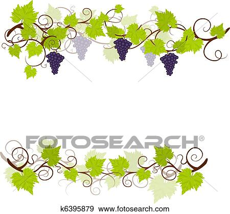 clip art of garden grape vines frame k6395879 search clipart rh fotosearch com grape vine border clip art free grape vine clip art free