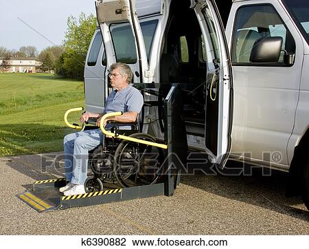 Wheelchair Lift For Car >> Handicap Wheelchair Lift Stock Image K6390882 Fotosearch