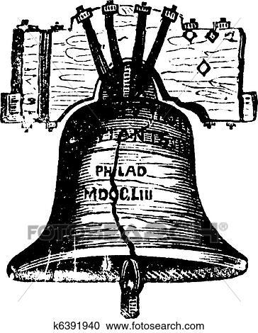 Liberty Bell, in Philadelphia, Pennsylvania, USA, vintage ...