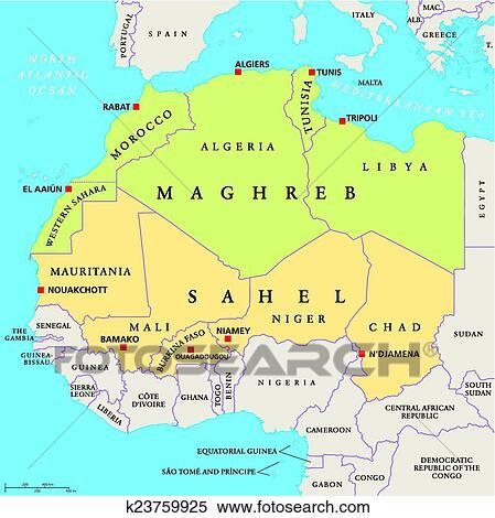 Carte maghreb
