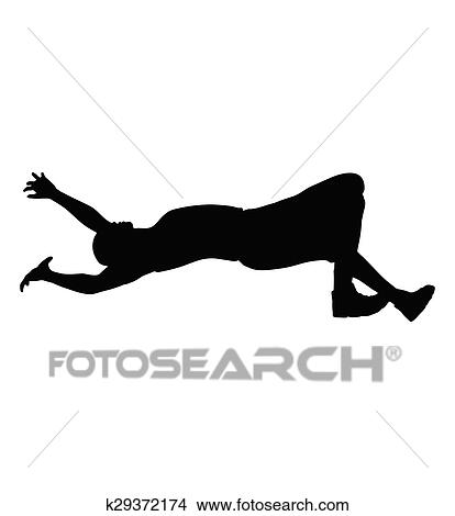 clipart of man falling down k29372174  search clip art