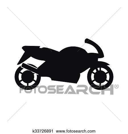 Motorcycle Black Simple Icon Clipart K33726891 Fotosearch