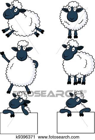 Clipart mouton dessin anim k9396371 recherchez des - Mouton dessin anime ...