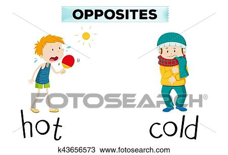 clipart of opposite words for hot and cold k43656573 search clip rh fotosearch com clip art words and images clip art words make your own