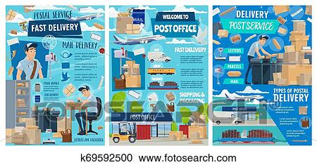 Postal Delivery Service Post Office Shipping Clipart